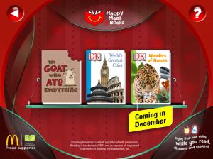 McDonalds Happy Meal Books app